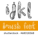 zentangle stylized vector... | Shutterstock .eps vector #468318368