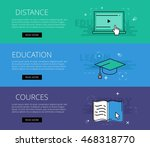 flat design electronic... | Shutterstock .eps vector #468318770