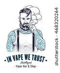 vector art of brutal hipster... | Shutterstock .eps vector #468320264
