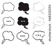think bubble icon set in trendy ...