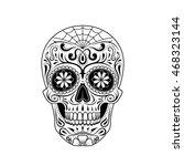graphic illustration of sugar... | Shutterstock .eps vector #468323144