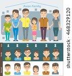 basic set cartoon full and half ... | Shutterstock .eps vector #468329120