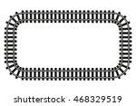 locomotive railroad top view... | Shutterstock .eps vector #468329519