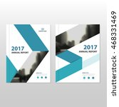 blue vector annual report... | Shutterstock .eps vector #468331469