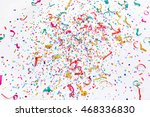 colourful confetti background ... | Shutterstock . vector #468336830