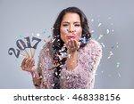pretty glamourous woman...   Shutterstock . vector #468338156