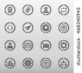 business and training icon set... | Shutterstock .eps vector #468340943
