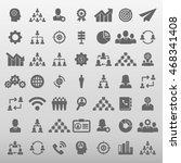 business and training icon set... | Shutterstock .eps vector #468341408