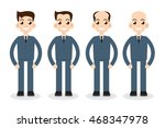 stages of hair loss | Shutterstock . vector #468347978