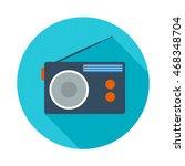 radio flat icon | Shutterstock . vector #468348704