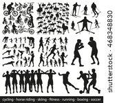 big set of sports people vector ... | Shutterstock .eps vector #468348830