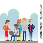 employee work under pressure... | Shutterstock .eps vector #468354269