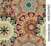 seamless pattern. vintage... | Shutterstock .eps vector #468356960