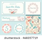 set of templates for wedding ... | Shutterstock .eps vector #468357719