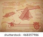 leonardo da vinci sketches. the ... | Shutterstock .eps vector #468357986