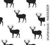 monochrome vector background.... | Shutterstock .eps vector #468363839