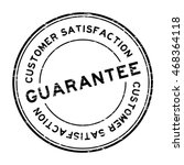 grunge black guarantee and... | Shutterstock .eps vector #468364118