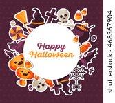 halloween concept banner with...   Shutterstock .eps vector #468367904
