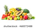assortment of exotic fruits... | Shutterstock . vector #468372488