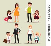 set of characters. parents and... | Shutterstock .eps vector #468373190
