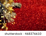 christmas background with... | Shutterstock . vector #468376610
