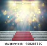 stage lighting background 3d... | Shutterstock . vector #468385580