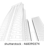 architecture abstract  3d... | Shutterstock . vector #468390374