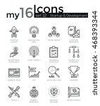 modern thin line icons set of... | Shutterstock .eps vector #468393344