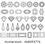 graphic drawing gemstone... | Shutterstock .eps vector #468393776