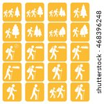 hiking icon illustration... | Shutterstock .eps vector #468396248