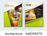 lime green brochure design.... | Shutterstock .eps vector #468398570