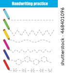 handwriting practice sheet.... | Shutterstock .eps vector #468401096