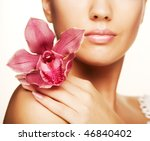 young beautiful woman with ... | Shutterstock . vector #46840402