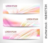abstract header white line wave ... | Shutterstock .eps vector #468407534