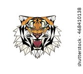 abstract portrait of a tiger | Shutterstock . vector #468410138