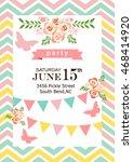 invitation card  | Shutterstock .eps vector #468414920