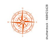 compass wind rose icon | Shutterstock .eps vector #468421628