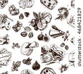 vector illustration sketch  ... | Shutterstock .eps vector #468421829