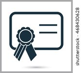 school charter icon on the... | Shutterstock .eps vector #468430628