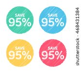 95  off. sale and discount... | Shutterstock .eps vector #468431384