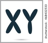x and y chromosome icon on the... | Shutterstock .eps vector #468432533