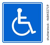 disabled handicap icon sign | Shutterstock .eps vector #468432719