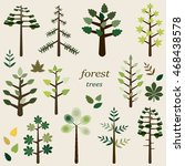set of icons of coniferous and... | Shutterstock .eps vector #468438578