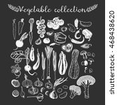 set of vegetables vector... | Shutterstock .eps vector #468438620
