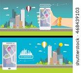 city internet navigation...   Shutterstock .eps vector #468439103
