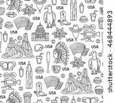 vector seamless pattern on the... | Shutterstock .eps vector #468444893
