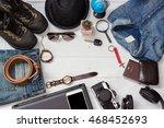 planning for trip set of travel ... | Shutterstock . vector #468452693