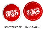 veterinary care stickers | Shutterstock .eps vector #468456080