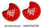 best buy stickers | Shutterstock .eps vector #468456098