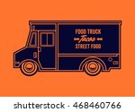 food truck vector illustration. ... | Shutterstock .eps vector #468460766
